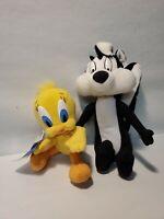 Tweety Bird Bean Bag Plush Pepe Le Pew Stuffed Animal Warner Bros Studio 90's
