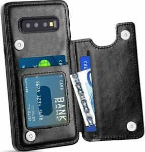 For Samsung Galaxy S20 Ultra S10 Plus Leather Wallet Case Card Holeder Cover