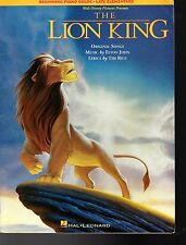 The Lion King Sheet Music Book   1994  By Elton John & Tim Rice