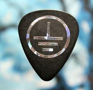 CLUTCH // Tim Sult 2013 Tour Guitar Pick // Black/Cracked Ice Foil Plectrum
