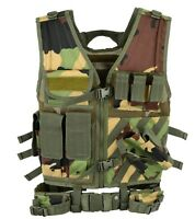 WOODLAND Tactical VEST Airsoft Vests Assault Hunting Molle Rig Mag Pouch Moll CE