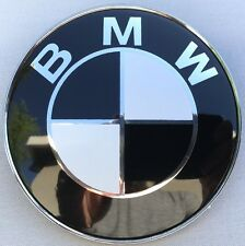 NEW BLACK WHITE LOGO 82MM (3 1/4 IN) HOOD ORNAMENT EMBLEM BADGE FOR BMW 8132375