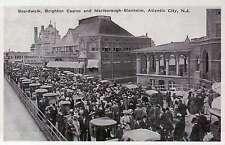 Boardwalk, Brighton Casino, Atlantic City, New Jersey, Hotel, People - Postcard