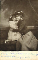 early 1900s postcard : ellaine terris and daughter