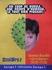 PUBLICITÉ EUROPE 1 LAURENCE BOCCOLINI 15H30 - 17H00 COUP DE GUEULE ÇA M'ÉNERVE