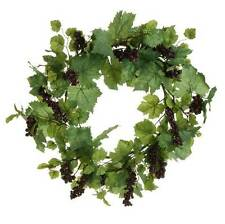Grape Leaf & Grapes Wreath  matching garland & floral stem available too NEW RAZ