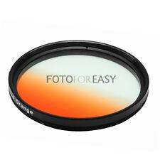 NEW 49mm 49 mm Graduated Orange LENS Filter for Sunset