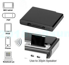 Wireless Bluetooth Music Receiver Adapter For iphone 4S 5,ipod 30-pin Speaker
