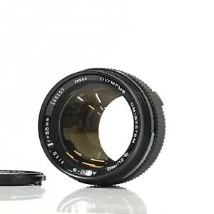 Olympus G.Zuiko Auto-S 55mm f/1.2 OM Mount Lens From Japan - Very Good [TK]