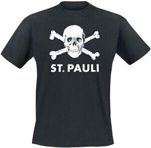 Upsolut Merchandising T-Shirt FC St. Pauli Totenkopf  Herren Schwarz