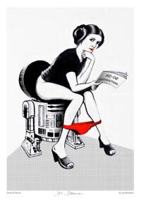 Joe Stoneman poster! (Carrie Fisher / Star Wars/ Banksy / graffiti genre)