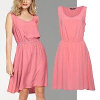 wow Sommerkleid Kleid Gr.36/38 S/M Viscose apricot Basic Dress knielang