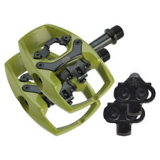 iSSi Flip II Pedals -Single Side Clipless with Platform Aluminum 9/16 Green