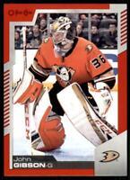 2020-21 UD O-Pee-Chee Red Border #304 John Gibson - Anaheim Ducks