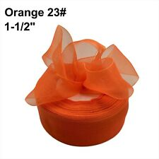 "Sheer Organza Yarn Ribbon 1-1/2"" Diy Wedding Birthday Party Handcraft"