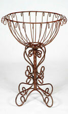 Rustic Wrought Iron Trunk Colum Plant Stand Metal Planters Garden Plant Stand