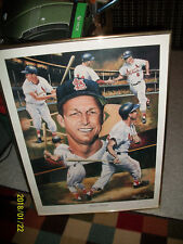 STAN THE MAN MUSIAL ANGELO MARINO  ARTIST AUTOGRAPHED  PRINT NUMBERED W/COA