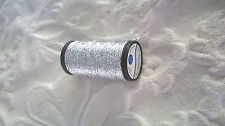 Coats Diadem Metallic silver Embroidery Thread, 20 mtrs