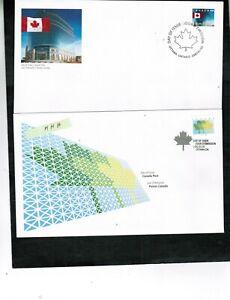 CANADA 2002 2 DEFINITIVES (leaf & flag)  FDC  #1927 & 1931 Cat $6.00  BOX 522
