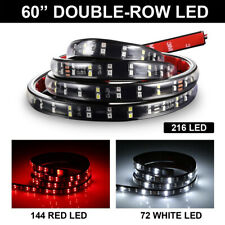 """New listing 2 ROW 60"""" 5 Function Red White 216LED Tailgate Light Strip IP68 Waterproof DC12V"""