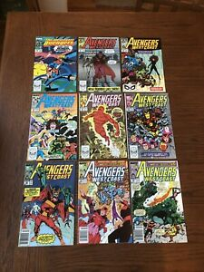 West Coast Avengers LOT OF 9 46 47 48 49 50 51 52 53 54 White Vision Fine+ Byrne
