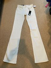 DL 1961 White Elodie Instasculpt Boot Jeans Size 24 NWT