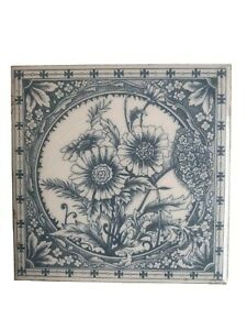 Antique Victorian Aesthetic Movement Tile Circa 1890's