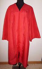 "Jostens Red Graduation Gown Womans L Mens M 5'4"" - 5'6"" Mint Condition Robe"