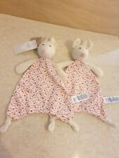 2 x M&S mouse pink floral comforter blankie soother soft toy 04088547 1 x BNWT