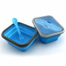 Collapsible Microwave Food Container Silicone Foldable Bento Box Lunch Box