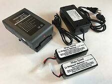 MEGA SPEED HIGH SPEED VIDEO CAMERA LI-ION BATTERY, CHARGER & HHC LI-PO BATTERIES