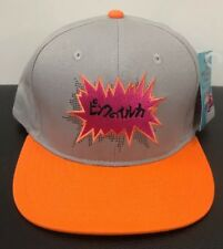 Pink Dolphin Gray Orange And Pink Leather Adjustable  snapback Hat FREE SHIPPING