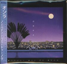 ONRA-NOBODY HAS TO KNOW-IMPORT CD WITH JAPAN OBI E25