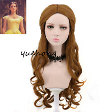 Beauty And The Beast Belle Cosplay Wig Long Wavy Brown Fashion Costume Wig