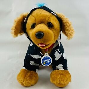 Build A Bear Promise Pets Golden Retriever Dog Plush & Hoodie Bone Print Mohawk