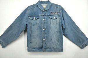Avirex Boys Youth Size Large 16-18 Button Front Long Sleeve Denim Jean Jacket