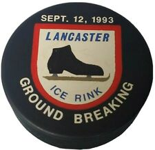 1993 GROUND BREAKING LANCASTER ICE RINK VINTAGE OFFICIAL HOCKEY PUCK RARE 🇨🇿