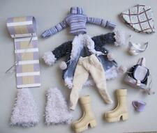 "Bratz 10"" clothes~WINTERTIME WONDERLAND DANA SLED BOOTS FUR COAT HAT WINTER SET"
