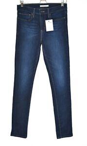 Womens Levis Skinny Mid Rise Slimming Dark Blue Stretch Jeans Size 12 W30 L32