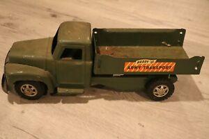 "Vintage Original Buddy L Army Transport Truck w/ Canopy 19.5"" Military Green"
