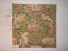 "Lee Jofa ""Chinois En Medallions Print"" Oriental motif remnant color chartreuse"