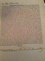 1850 Hand Signed Will HW Livingston John Silvernail Taghkanic New York City