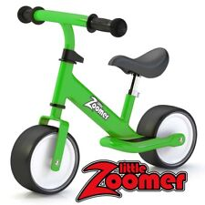 GREEN BALANCE BIKE FOR TODDLERS & KIDS - EXTRA WIDE WHEELS - ADJUSTABLE HEIGHT