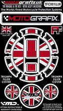 Triumph Union Jack Filler Petrol Fuel Gas Cap Cover Motografix 3D Gel Protector
