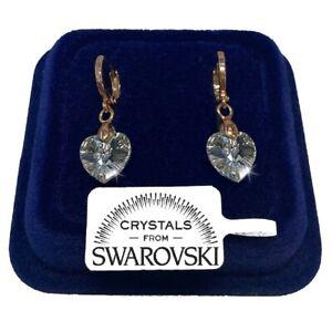 Orecchini Cerchio Cuore Donna pl. Oro Giallo 18K con Cristalli Swarovski 03/2