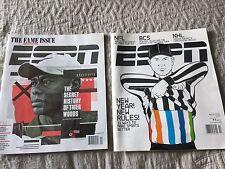 Lot of 2 ESPN MAGAZINE 2010 2016 Tiger Woods EX-NM