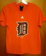 DETROIT TIGERS youth med baseball T shirt Adidas tee Olde English distressed