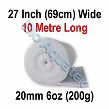 10 Metre / 10m Dacron Aquarium Pond Filter Media Floss Wool Wadding - 20mm / 6oz