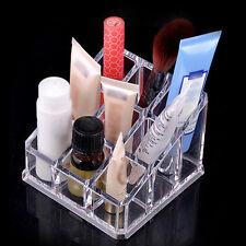 9 Slots Lippenstift Halter Acryl Display Ständer Kosmetik Organizer Makeup Case