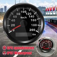 IP67 LCD DIGITALE GPS TACHIMETRO MOTO AUTO CONTACHILOMETRI CONTAGIRI 200KM/H !